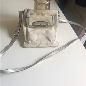 Coach cross body canvas vintage bag